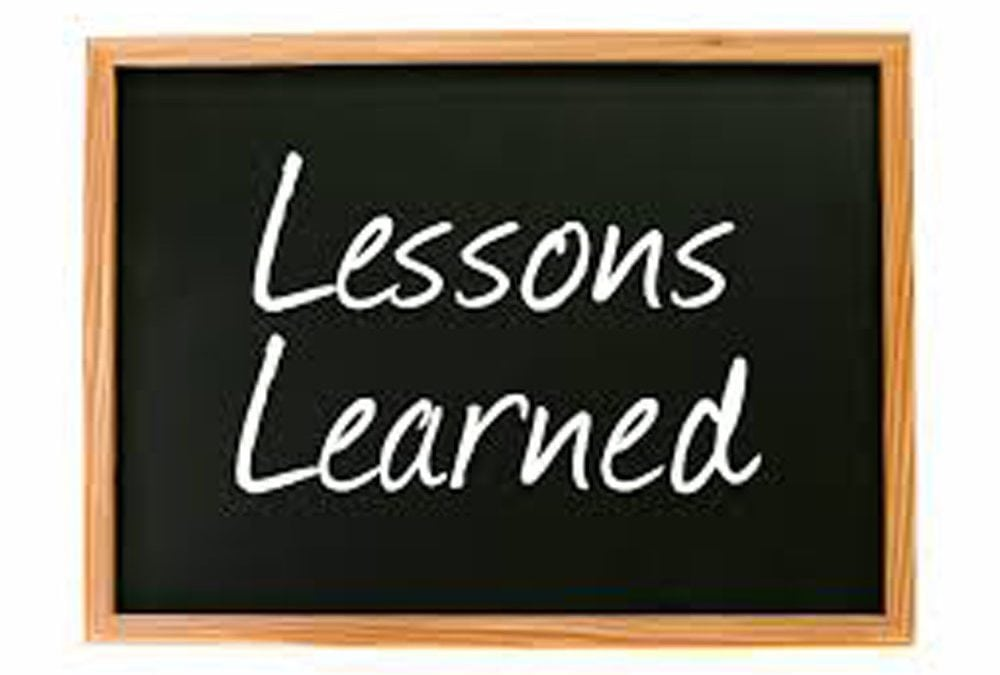 Three Lessons Learned